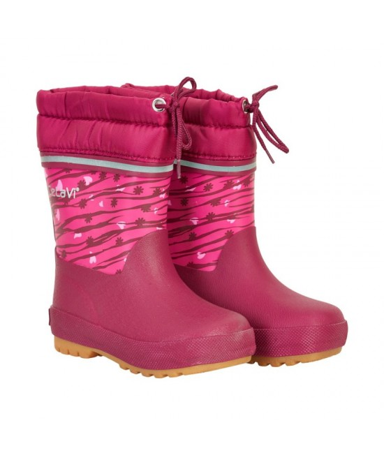 Cizme CeLaVi din cauciuc natural căptușite - roz