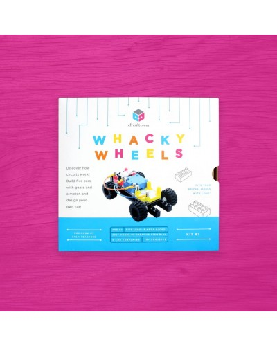Circuit Cubes - Kit Masină Whacky cu roți