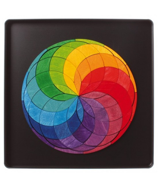 Spirala culorilor Grimms - puzzle magnetic
