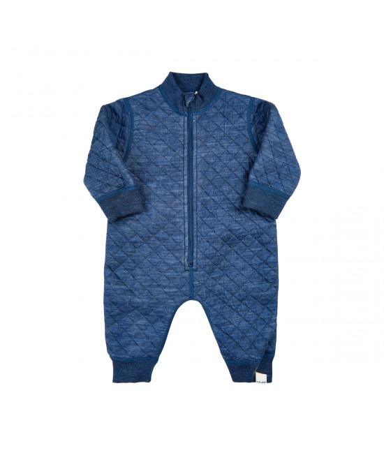 Salopetă overall din lână Merino și Tencel Celavi Wonder Wollies albastră