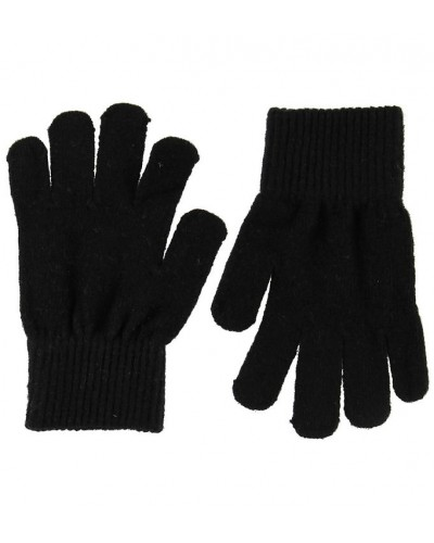 Mănuși tricotate din lână Merino CeLaVi Black