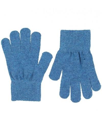 Mănuși tricotate din lână Merino CeLaVi Blue