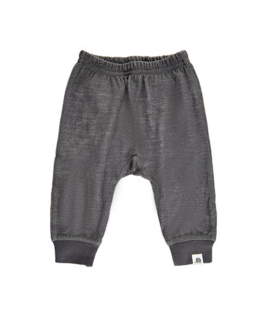 Pantaloni Harem stil șalvari din lână Merino CeLaVi Asphalt