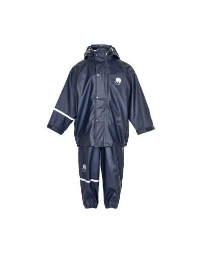 Set de ploaie și vânt CeLaVi jachetă+pantaloni/salopetă impermeabile bleumarin