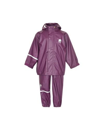 Set de ploaie și vânt CeLaVi jachetă+pantaloni/salopetă impermeabile mov