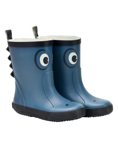 Cizme CeLaVi din cauciuc natural pentru copii - Ice Blue - Crocodil albastru cu ochi