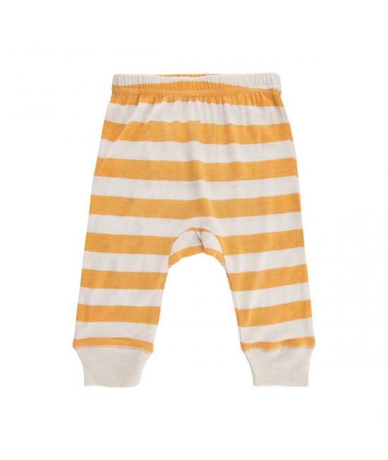 Pantaloni Harem stil șalvari din amestec de bambus și lână Merino CeLaVi Mineral Yellow