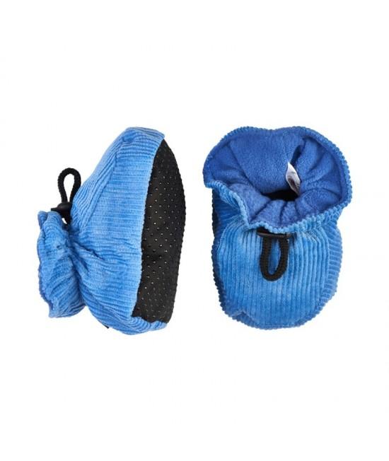 Botoșei CeLaVi călduroşi, cu elastic reglabil la gleznă - albastru