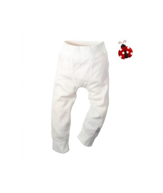 Pantaloni din lână și bumbac Minymo - albi