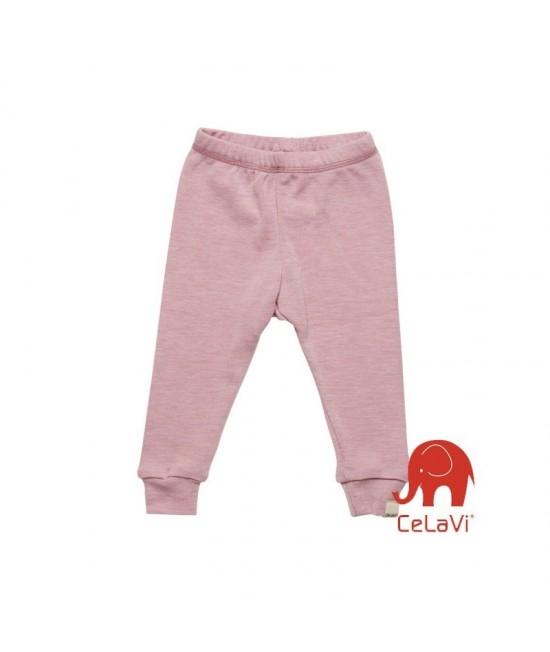 Pantaloni din lână Merinos CeLaVi - roz