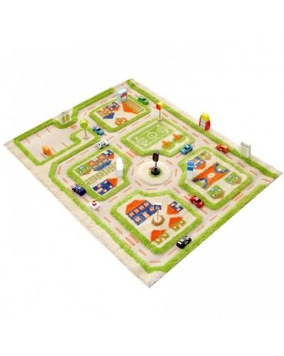 Covor de joacă pentru copii 3D - IVI Green Town Traffic 160 x 230