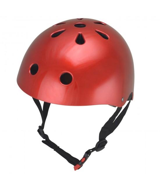 Cască de protecție Kiddimoto Metallic Red mărimea M