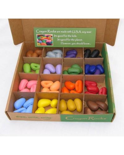 64 creioane Crayon Rocks naturale - în cutie - 16 culori