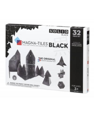 Set Magna-Tiles - 32 piese magnetice de construcție negre (BLACK)