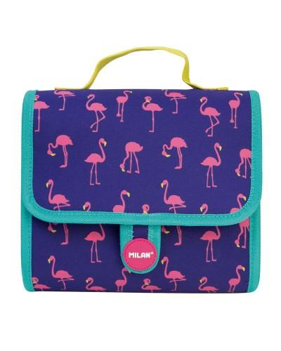 Geantă cu 2 penare echipate detașabile Milan - Flamingos