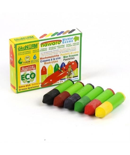 6 mini-creioane cerate naturale ökoNORM nawaro Gnome (pitice)