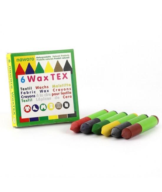 6 creioane cerate naturale pentru textile ökoNORM WAX Tex nawaro