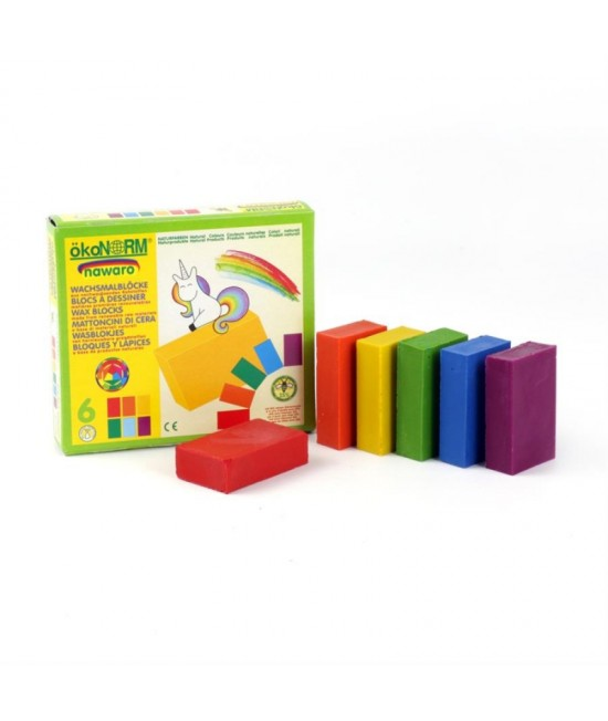 6 creioane cerate naturale blocuri ökoNORM nawaro Unicorn