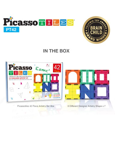 Set Picasso Tiles - 42 de piese (6 forme diferite)