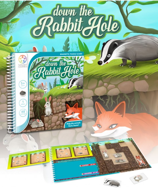 Down The Rabbit Hole - Joc Puzzle Magnetic SmartGames