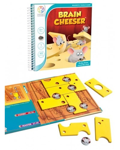 Brain Cheeser - Joc Puzzle Magnetic SmartGames