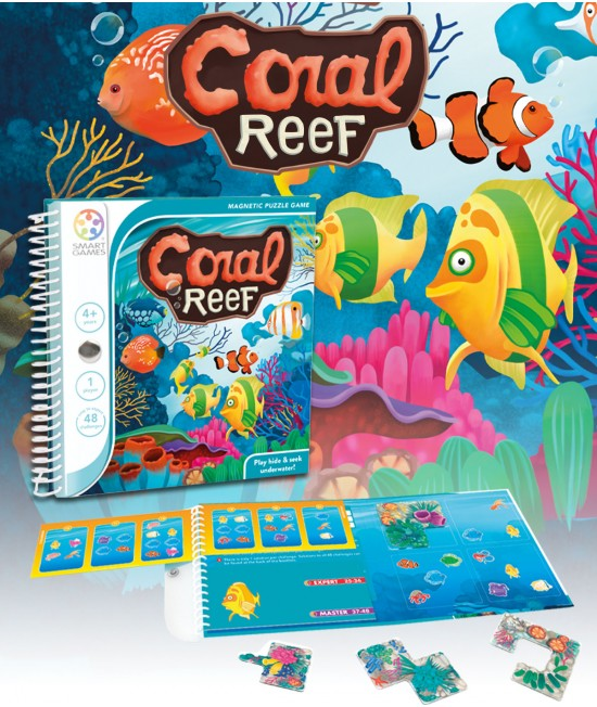 Coral Reef - Joc Puzzle Magnetic SmartGames (Reciful de corali)