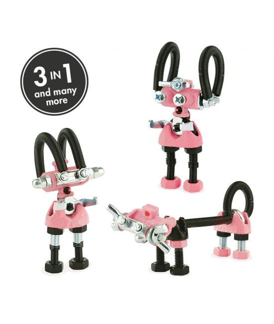 JoyBit - 3 în 1 Character Kit The OFFBITS - set de construit cu șuruburi și piulițe