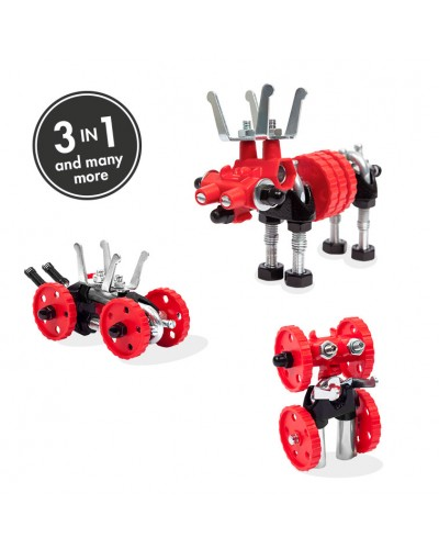 MooseBit - 3 în 1 Animal Kit The OFFBITS - set de construit cu șuruburi și piulițe