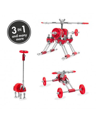 SkyBit - 3 în 1 Transportation Kit The OFFBITS - set de construit cu șuruburi și piulițe