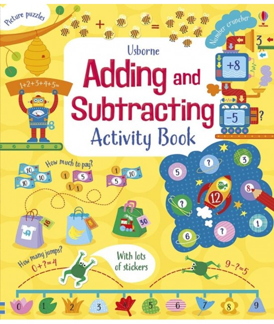 Adding and subtracting - Usborne Maths activity books