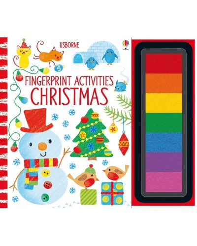 Fingerprint activities: Christmas - Usborne Fingerprinting and rubber stamps