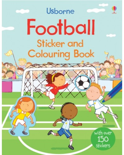 Football Sticker and Colouring Book - Usborne's First Colouring Books