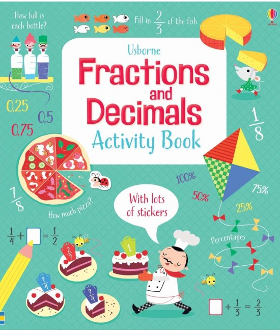 Fractions and decimals activity book - Usborne Maths activity books