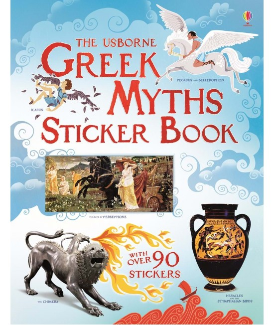 Greek myths Sticker Book - Usborne History Books