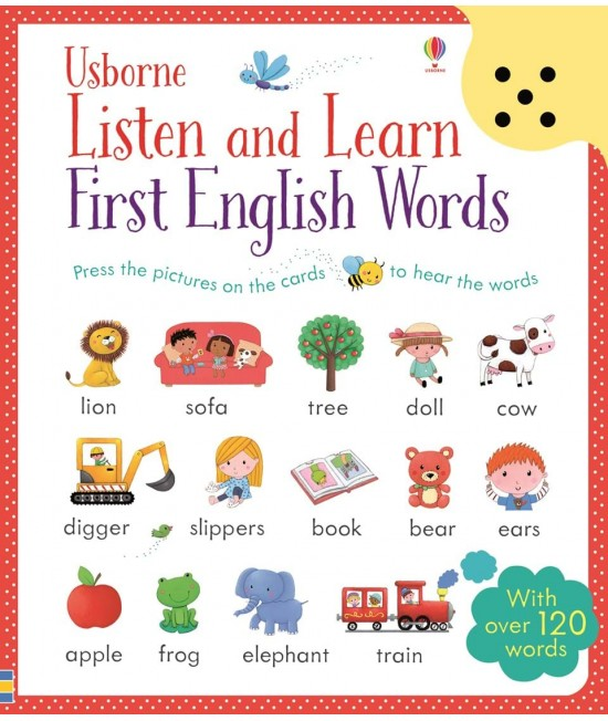 Listen and Learn First English Words - Usborne Listen and Learn