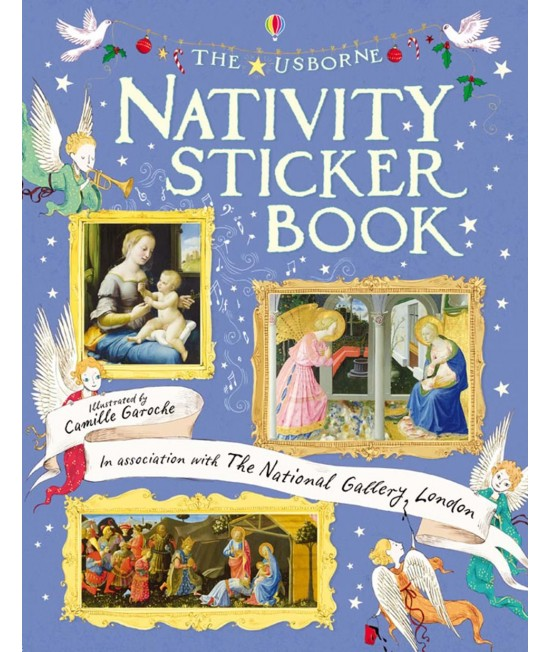 Nativity Sticker Book - Usborne Art Sticker Books