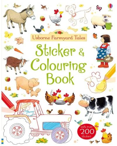 Sticker and Colouring Book - Usborne Farmyard Tales