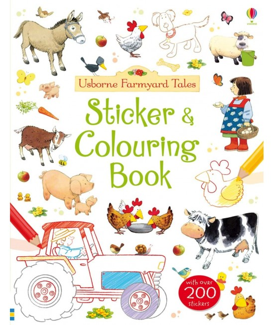 Sticker and Colouring Book - Usborne Farmyard Tales