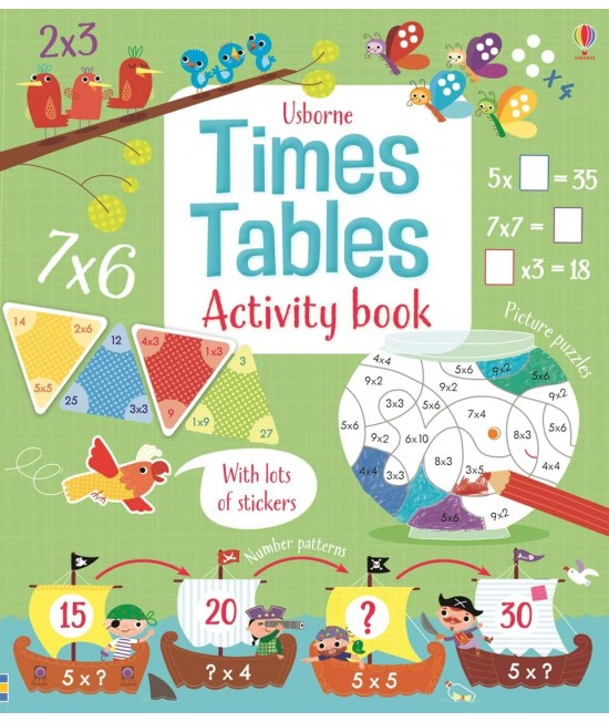 Times tables activity book - Usborne Maths activity books
