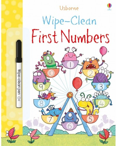 Wipe-clean First Numbers - Usborne Wipe-clean learning