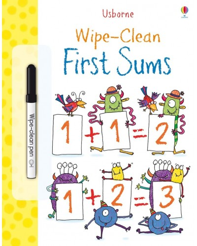 Wipe-clean First Sums - Usborne Wipe-clean learning