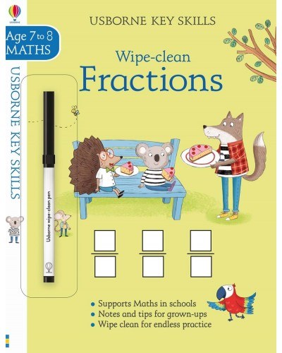 Wipe-clean Fractions 7-8 years - Usborne Key Skills