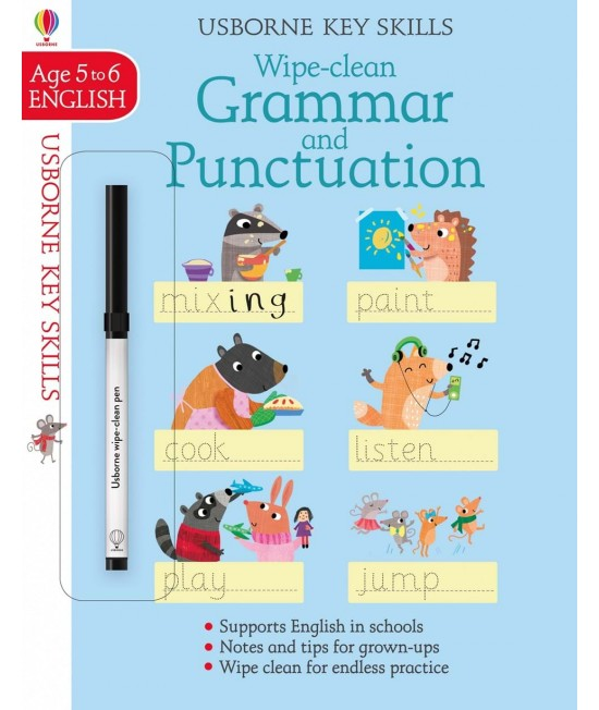 Wipe-clean Grammar and Punctuation 5-6 years - Usborne Key Skills
