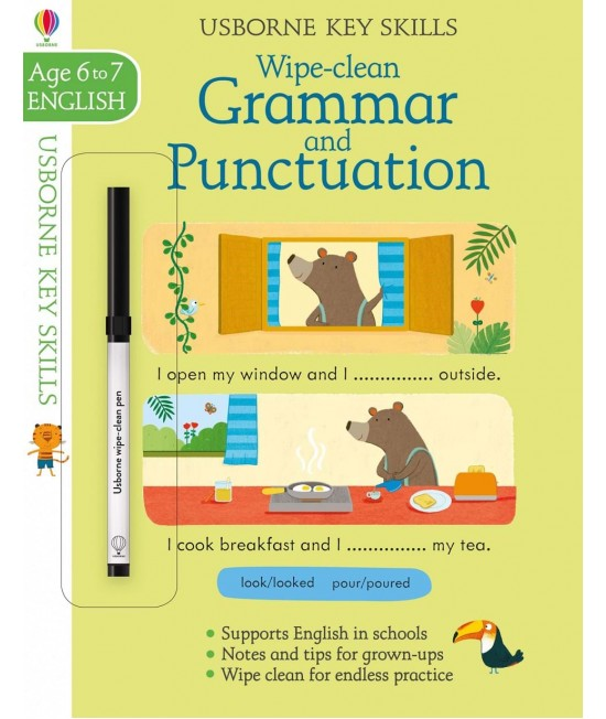 Wipe-clean Grammar and Punctuation 6-7 years - Usborne Key Skills