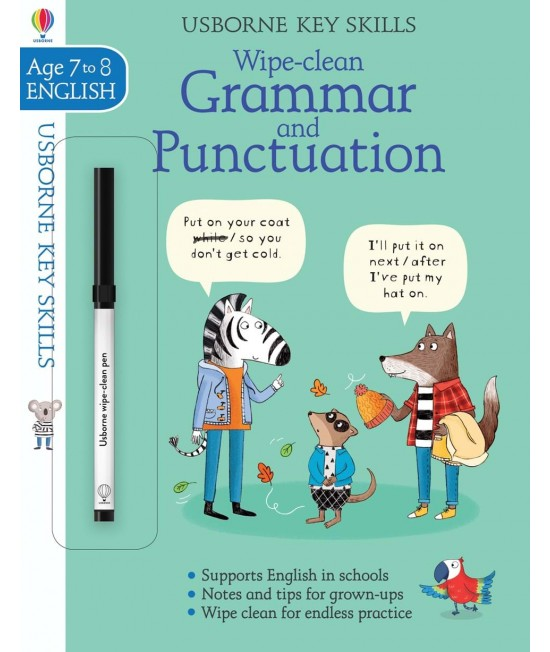 Wipe-clean Grammar and Punctuation 7-8 years - Usborne Key Skills