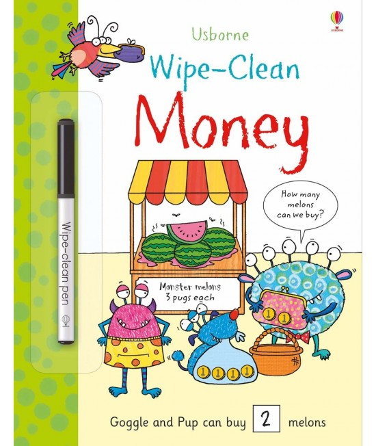 Wipe-clean Money - Usborne Wipe-clean learning