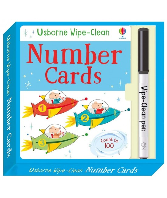 Wipe-clean Number cards - Usborne Wipe-clean cards