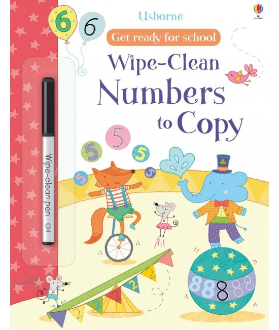 Wipe-clean Numbers to copy - Get ready for school wipe-clean books