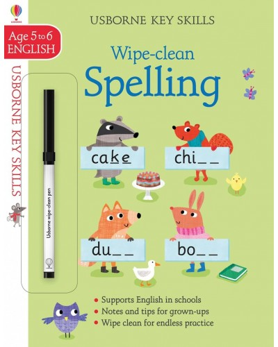 Wipe-clean Spelling 5-6 years - Usborne Key Skills