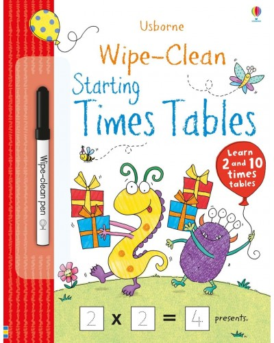 Wipe-clean Starting Times Tables - Usborne Wipe-clean learning